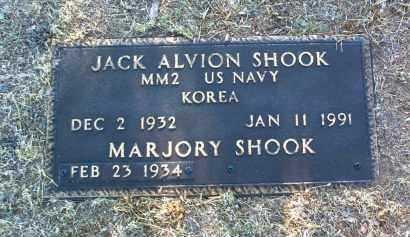 SHOOK, JACK ALVION - Yavapai County, Arizona   JACK ALVION SHOOK - Arizona Gravestone Photos