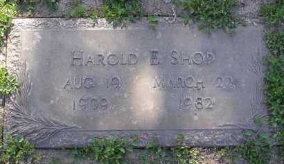 SHOP, HAROLD E - Yavapai County, Arizona | HAROLD E SHOP - Arizona Gravestone Photos