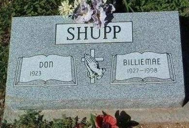 SHUPP, BILLY  MAE - Yavapai County, Arizona | BILLY  MAE SHUPP - Arizona Gravestone Photos