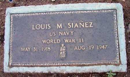SIANEZ, LOUIS M. - Yavapai County, Arizona   LOUIS M. SIANEZ - Arizona Gravestone Photos