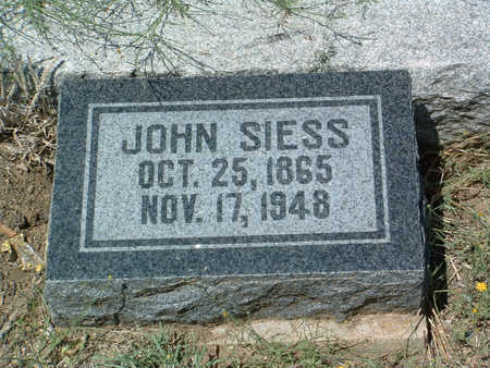 SIESS, JOHN - Yavapai County, Arizona | JOHN SIESS - Arizona Gravestone Photos