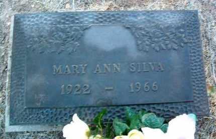SILVA, MARY ANN - Yavapai County, Arizona   MARY ANN SILVA - Arizona Gravestone Photos