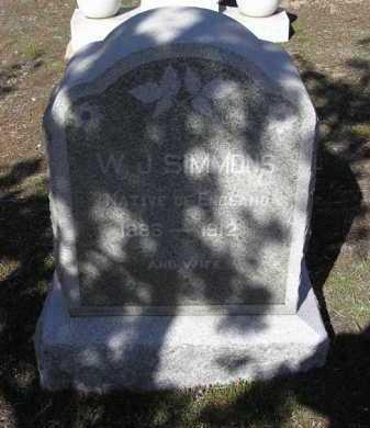 SIMMONS, W. J. - Yavapai County, Arizona | W. J. SIMMONS - Arizona Gravestone Photos