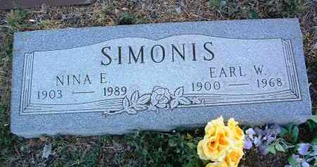 SIMONIS, EARL W. - Yavapai County, Arizona | EARL W. SIMONIS - Arizona Gravestone Photos