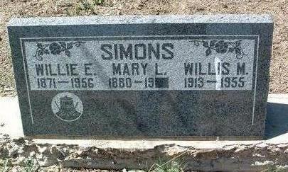 SIMONS, WILLIE EDMUND - Yavapai County, Arizona | WILLIE EDMUND SIMONS - Arizona Gravestone Photos