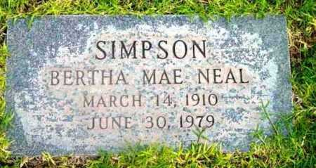 SIMPSON, BERTHA MAE - Yavapai County, Arizona | BERTHA MAE SIMPSON - Arizona Gravestone Photos