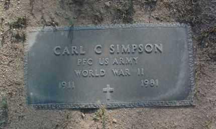 SIMPSON, CARL CEVIEL - Yavapai County, Arizona   CARL CEVIEL SIMPSON - Arizona Gravestone Photos