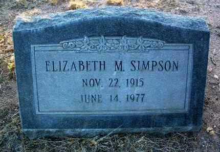 SIMPSON, ELIZABETH MAY - Yavapai County, Arizona | ELIZABETH MAY SIMPSON - Arizona Gravestone Photos