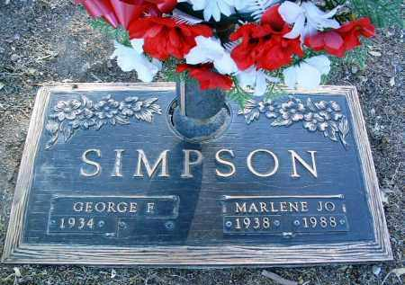 SIMPSON, MARLENE JO - Yavapai County, Arizona | MARLENE JO SIMPSON - Arizona Gravestone Photos