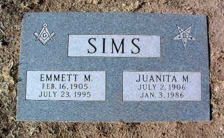 SIMS, EMMETT MCCAMMON - Yavapai County, Arizona | EMMETT MCCAMMON SIMS - Arizona Gravestone Photos