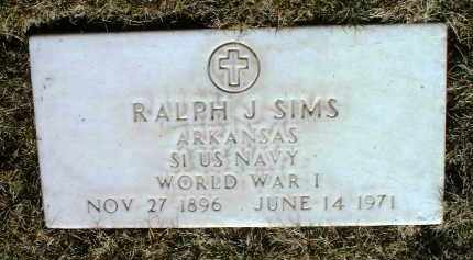 SIMS, RALPH J. - Yavapai County, Arizona   RALPH J. SIMS - Arizona Gravestone Photos