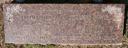 POWERS SIMS, THELMA - Yavapai County, Arizona | THELMA POWERS SIMS - Arizona Gravestone Photos