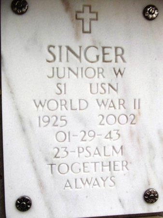 SINGER, JUNIOR W. - Yavapai County, Arizona | JUNIOR W. SINGER - Arizona Gravestone Photos