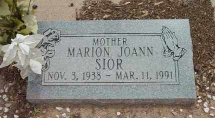 SIOR, MARION JOANN - Yavapai County, Arizona   MARION JOANN SIOR - Arizona Gravestone Photos