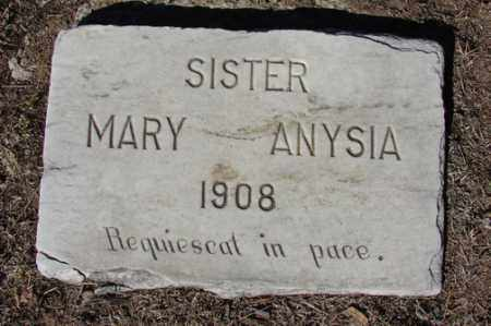 SISTER, MARY ANYSIA - Yavapai County, Arizona   MARY ANYSIA SISTER - Arizona Gravestone Photos