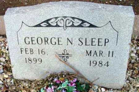 SLEEP, GEORGE N. - Yavapai County, Arizona | GEORGE N. SLEEP - Arizona Gravestone Photos