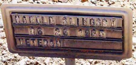 SLINGSBY, HAROLD - Yavapai County, Arizona | HAROLD SLINGSBY - Arizona Gravestone Photos