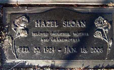 SLOAN, HAZEL - Yavapai County, Arizona   HAZEL SLOAN - Arizona Gravestone Photos