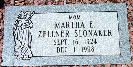 ZELLNER SLONAKER, MARTHA ELLEN - Yavapai County, Arizona | MARTHA ELLEN ZELLNER SLONAKER - Arizona Gravestone Photos