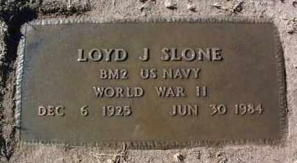 SLONE, LOYD J. - Yavapai County, Arizona   LOYD J. SLONE - Arizona Gravestone Photos