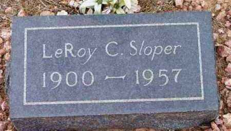 SLOPER, LEROY CONSTANCE - Yavapai County, Arizona   LEROY CONSTANCE SLOPER - Arizona Gravestone Photos
