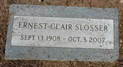 SLOSSER, ERNEST CLAIR - Yavapai County, Arizona | ERNEST CLAIR SLOSSER - Arizona Gravestone Photos