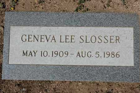 SLOSSER, GENEVA LEE - Yavapai County, Arizona | GENEVA LEE SLOSSER - Arizona Gravestone Photos