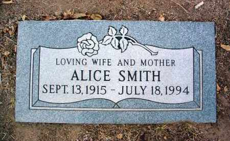 SMITH, ALICE - Yavapai County, Arizona | ALICE SMITH - Arizona Gravestone Photos