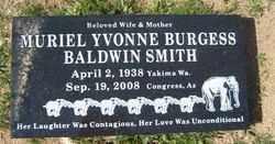 BURGESS BALDWIN, MURIEL - Yavapai County, Arizona | MURIEL BURGESS BALDWIN - Arizona Gravestone Photos