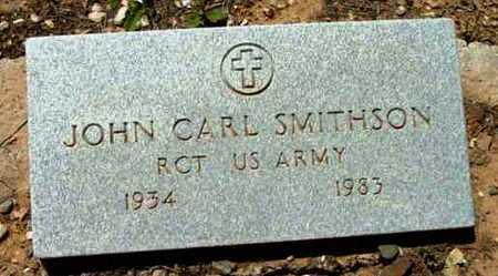 SMITHSON, JOHN CARL - Yavapai County, Arizona | JOHN CARL SMITHSON - Arizona Gravestone Photos