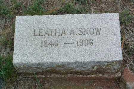 ALLRED SNOW, LEATHA A. - Yavapai County, Arizona | LEATHA A. ALLRED SNOW - Arizona Gravestone Photos