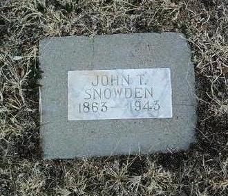 SNOWDEN, JOHN THOMPSON - Yavapai County, Arizona   JOHN THOMPSON SNOWDEN - Arizona Gravestone Photos