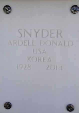 SNYDER, ARDELL DONALD - Yavapai County, Arizona   ARDELL DONALD SNYDER - Arizona Gravestone Photos