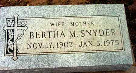 SNYDER, BERTHA M. - Yavapai County, Arizona | BERTHA M. SNYDER - Arizona Gravestone Photos