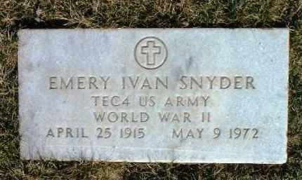 SNYDER, EMERY IVAN - Yavapai County, Arizona | EMERY IVAN SNYDER - Arizona Gravestone Photos