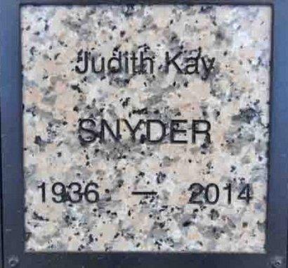 SNYDER, JUDITH KAY - Yavapai County, Arizona | JUDITH KAY SNYDER - Arizona Gravestone Photos