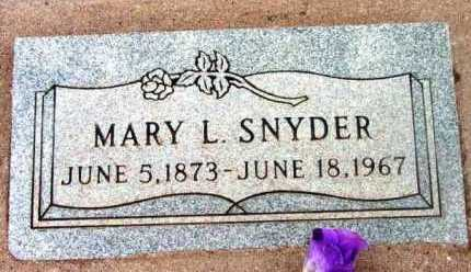 SNYDER, MARY LOUISA - Yavapai County, Arizona | MARY LOUISA SNYDER - Arizona Gravestone Photos