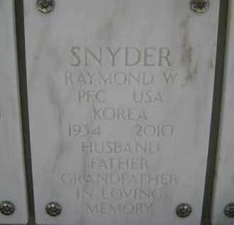 SNYDER, RAYMOND W. - Yavapai County, Arizona | RAYMOND W. SNYDER - Arizona Gravestone Photos