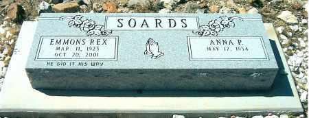 SOARDS, ANNA P. - Yavapai County, Arizona   ANNA P. SOARDS - Arizona Gravestone Photos