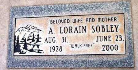 SOBLEY, A. LORAIN - Yavapai County, Arizona   A. LORAIN SOBLEY - Arizona Gravestone Photos