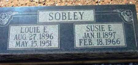 SOBLEY, SUSIE E. - Yavapai County, Arizona | SUSIE E. SOBLEY - Arizona Gravestone Photos