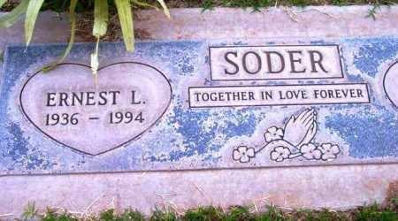 SODER, ERNEST L. - Yavapai County, Arizona   ERNEST L. SODER - Arizona Gravestone Photos