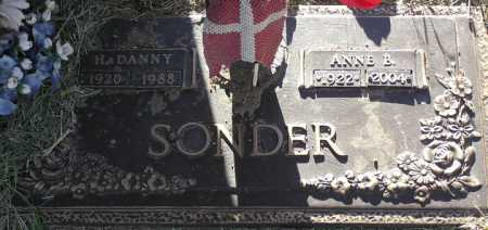 SONDER, H. DANNY - Yavapai County, Arizona | H. DANNY SONDER - Arizona Gravestone Photos