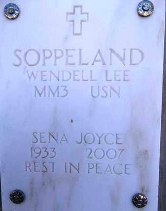 SOPPELAND, WENDELL LEE - Yavapai County, Arizona | WENDELL LEE SOPPELAND - Arizona Gravestone Photos