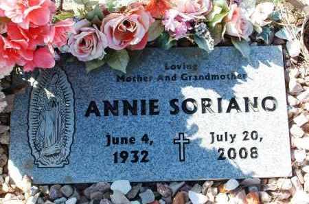 SORIANO, ANNIE - Yavapai County, Arizona | ANNIE SORIANO - Arizona Gravestone Photos
