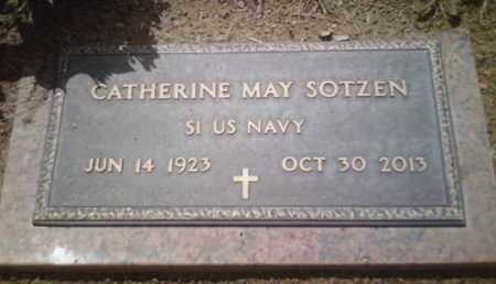SOTZEN, CATHERINE MAY - Yavapai County, Arizona | CATHERINE MAY SOTZEN - Arizona Gravestone Photos