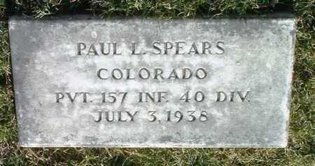 SPEARS, PAUL L. - Yavapai County, Arizona | PAUL L. SPEARS - Arizona Gravestone Photos