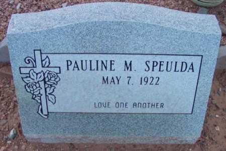 SPEULDA, PAULINE M. - Yavapai County, Arizona | PAULINE M. SPEULDA - Arizona Gravestone Photos