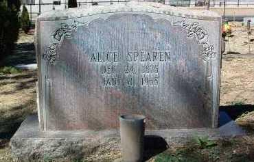 SPEAREN, ALICE - Yavapai County, Arizona   ALICE SPEAREN - Arizona Gravestone Photos