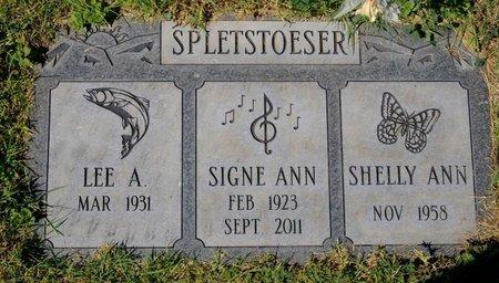 SPLETSTOESER, SIGNE ANNE - Yavapai County, Arizona | SIGNE ANNE SPLETSTOESER - Arizona Gravestone Photos